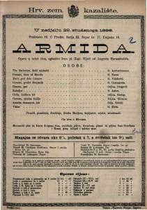 Armida Opera u četiri čina / uglazbio Ivan pl. Zajc