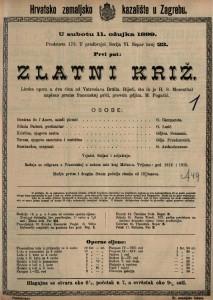 Zlatni križ lirska opera u dva čina / od Vatroslava Brülla