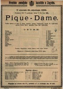 Pique - Dame velika opera u 3 čina (7 slika) / uglazbio Petar Iljič Čajkovskij