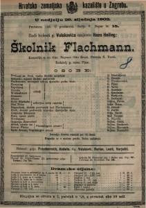 Školnik Flachmann komedija u tri čina / napisao Otto Ernst