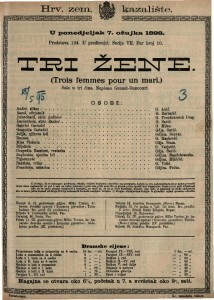 Tri žene Šala u tri čina / Napisao Grenet-Dancourt