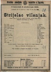 Strijela vilenjak Pučka opera u tri čina / Uglazbio Karl Marija pl. Weber