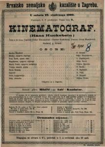 Kinematograf (Hans Huckebein) : šala u tri čina / napisali Oskar Blumenthal i Gustav Kadelburg