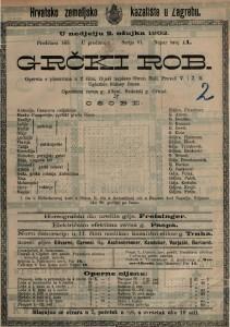 Grčki rob opereta s plesovima u 2 čina / riječi napisao Owen Hall