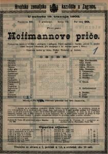 Hoffmannove priče fantastična opera u tri čina s prologom i epilogom / glazbu složio Jacques Offenbach