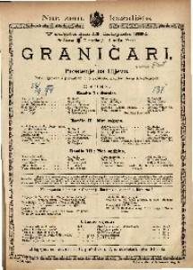 Graničari ili Proštenje na Ilijevo Pučki igrokaz s pjevanjem u 3 razdijela / napisao Josip Freudenreich