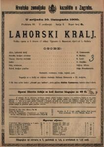 Lahorski kralj velika opera u 5 činova (7 slika) / Uglazbio I. Massenet