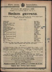 Sedam gavrana Romantična čarobna priča u pet činova / Napisao Emil Pohl