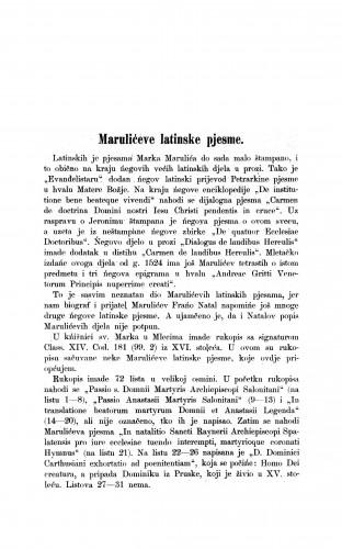 Marulićeve latinske pjesme / Milivoj Šrepel