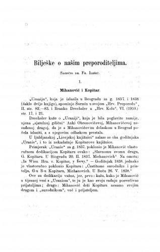 Bilješke o našim preporoditeljima : Građa za povijest književnosti hrvatske