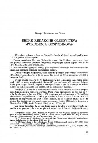 Bečke redakcije Gleđevićeva