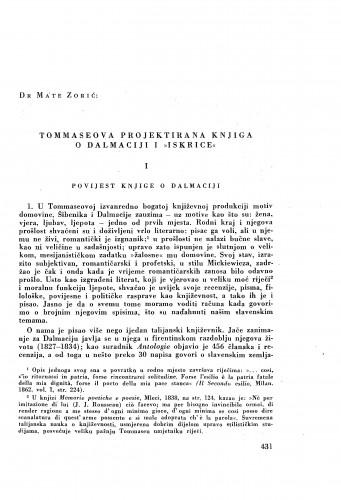 Tommaseova projektirana knjiga o Dalmaciji i