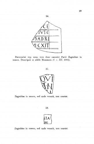 Inscriptiones quae Zagrabiae in Museo nationali asservantur : RAD