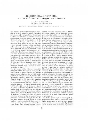 Iluminacija i notacija zagrebačkih liturgijskih rukopisa