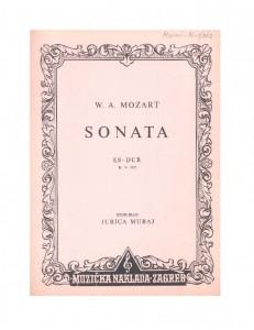 Sonata Es-dur : K. V. 282 : Ostavština Jurica Murai