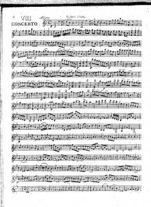 VIII concerto : violino primo