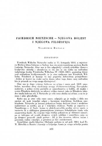 Friedrich Nietzsche - njegova bolest i njegova filozofija