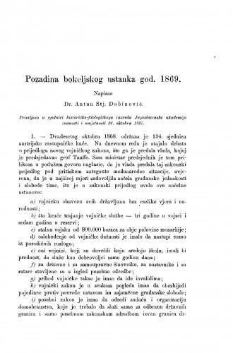 Pozadina bokeljskog ustanka god. 1869.