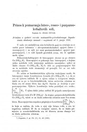 Prinos k poznavanju luteo-, roseo i purpureo-kobaltovih soli