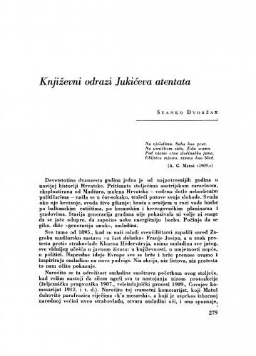 Književni odrazi Jukićeva atentata
