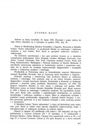 Zvonko Kusić : Ljetopis