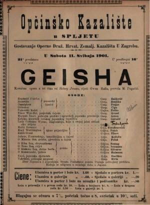 Geisha komična opera u tri čina / od Sidney Jonesa