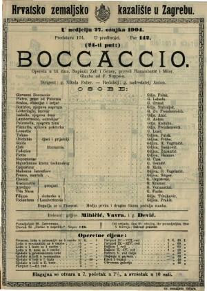 Boccaccio opereta u tri čina / glazba od F. Suppé-a