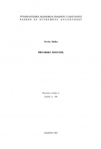 Drvarski dnevnik