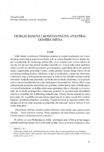 Dioklecijanova i Konstantinova