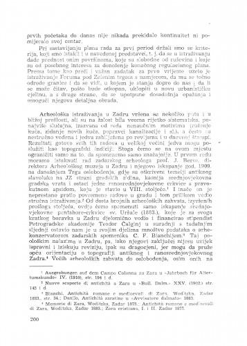 Izvještaj o arheološkim iskapanjma u Zadru / M. Suić