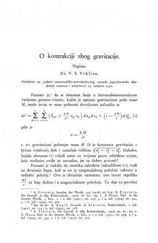 O kontrakciji zbog gravitacije