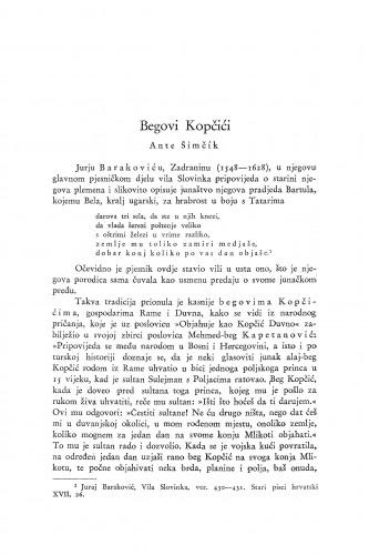 Begovi Kopčići / A. Šimčík