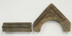 Greda i zabat s natpisom kneza Branimira klesarska radionica iz doba kneza Branimira
