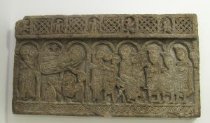 Plutej s prizorom Kristova rođenja i poklonstva kraljeva  / zadarska klesarska radionica