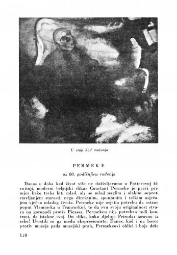 Permeke : Bulletin Zavoda za likovne umjetnosti Jugoslavenske akademije znanosti i umjetnosti