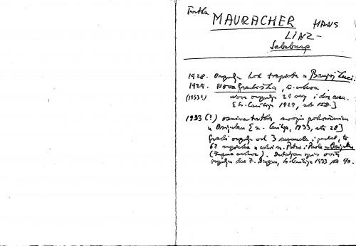 Tvrtka Mauracher Hans Linz Salzburg