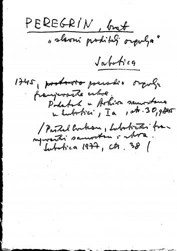 Peregrin, brat slavni graditelj orgulja ; Subotica