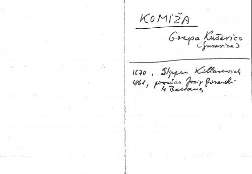 Komiža Gospa Kušerica (Gusarica)