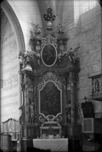 Weinacht, Josephus (Josip)  : Crkva Svetog Ivana Krstitelja (Kloštar Ivanić) : oltar Četrnaest Svetih pomoćnika [Griesbach, Đuro  ]