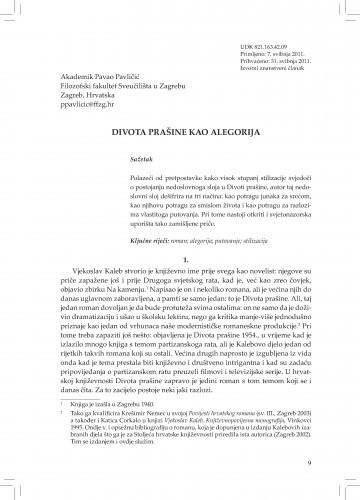 Divota prašine kao alegorija : Adrias : zbornik Zavoda za znanstveni i umjetnički rad Hrvatske akademije znanosti i umjetnosti u Splitu