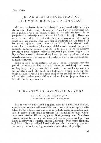 Izložba Ruska i Češka : Bulletin Instituta za likovne umjetnosti Jugoslavenske akademije znanosti i umjetnosti