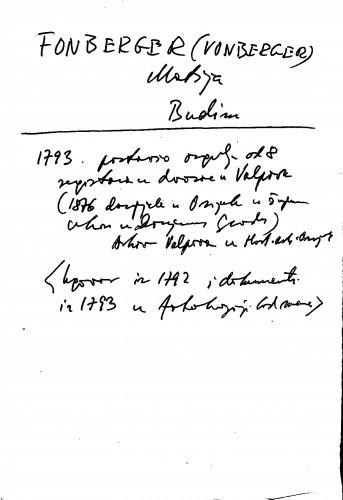 Fonberger (Vonberger) Matija Budim