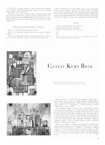 Gustav Kurt Beck : Bulletin Instituta za likovne umjetnosti Jugoslavenske akademije znanosti i umjetnosti