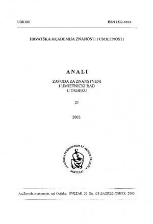 Sv. 21 (2005) : Anali Zavoda za znanstveni i umjetnički rad u Osijeku