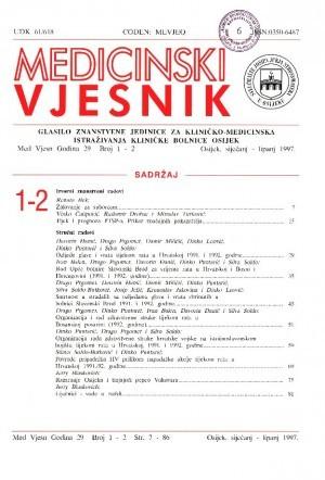God. 29, br. 1-2(1997) : Medicinski vjesnik