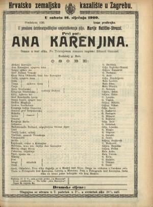 Ana Karenjina Drama u šest slika / prema istoimenom romanu Leva Nikolajeviča Tolstoja