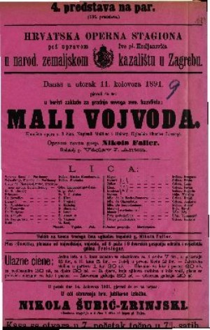 Mali vojvoda : Komična opera u 3 čina