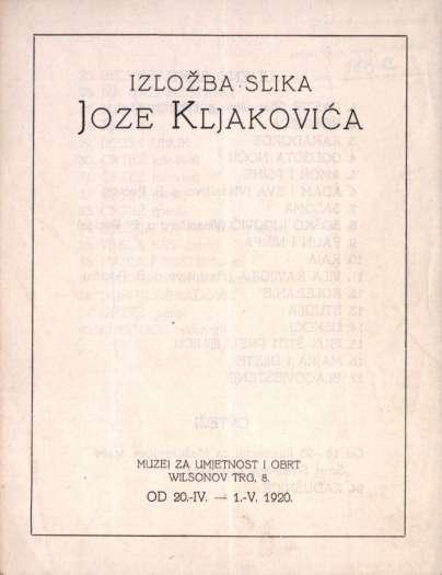 Izložba slika Joze Kljakovića