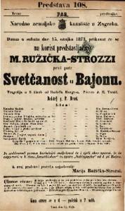 Svetčanost u Bajonu Tragedija u 5 činah / od Rudolfa Bunge-a