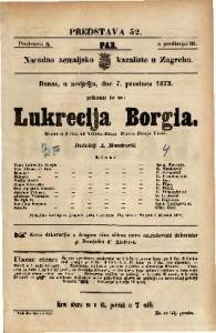 Lukrecija Borgia Drama u 3 čina / od Viktora Huga